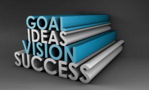 Goal, idea, vision, succes